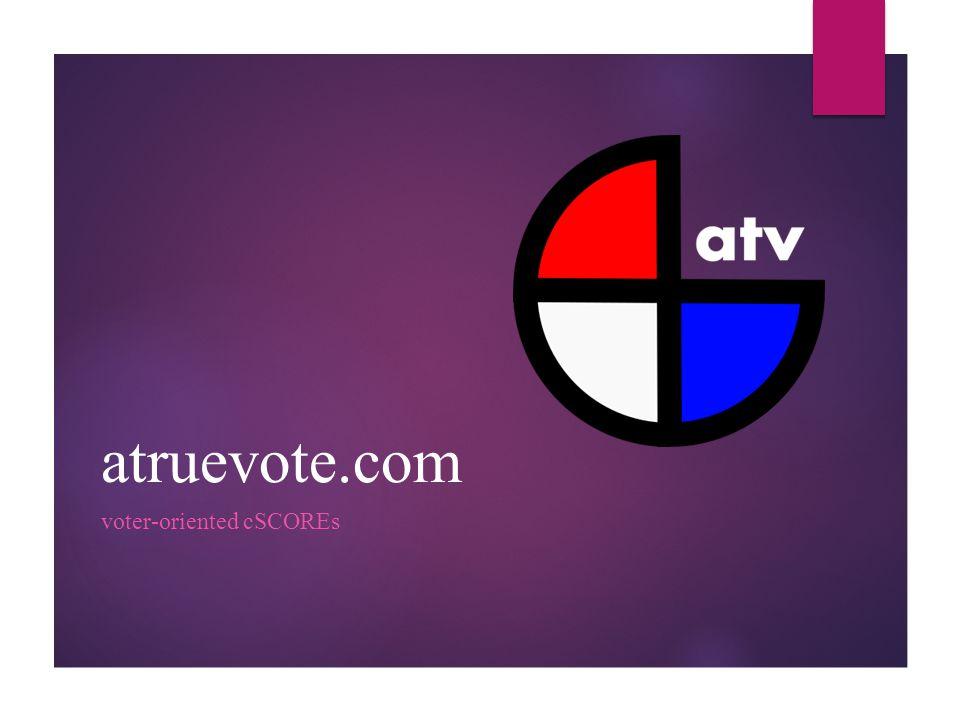 atruevote.com voter-oriented cSCOREs