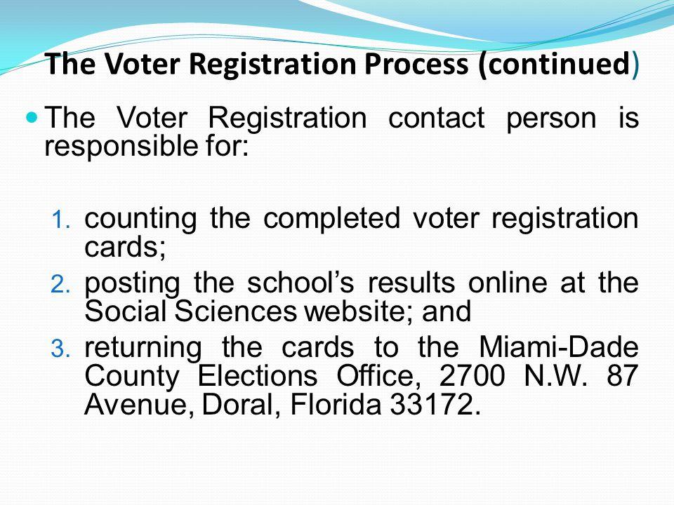 School Registration Goal The 2013 student voter registration goal for each school is based on the number of students registered in 2012.