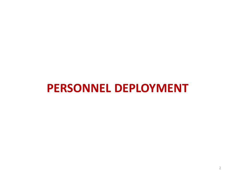 PERSONNEL DEPLOYMENT 2