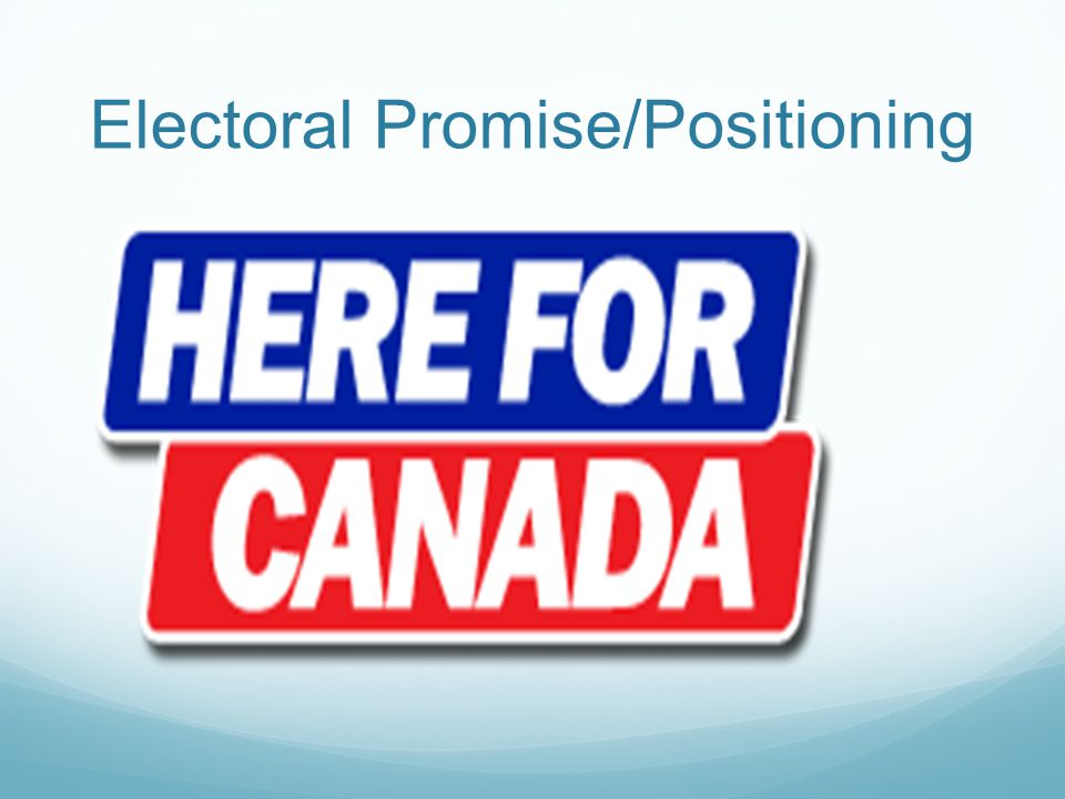 Electoral Promise/Positioning
