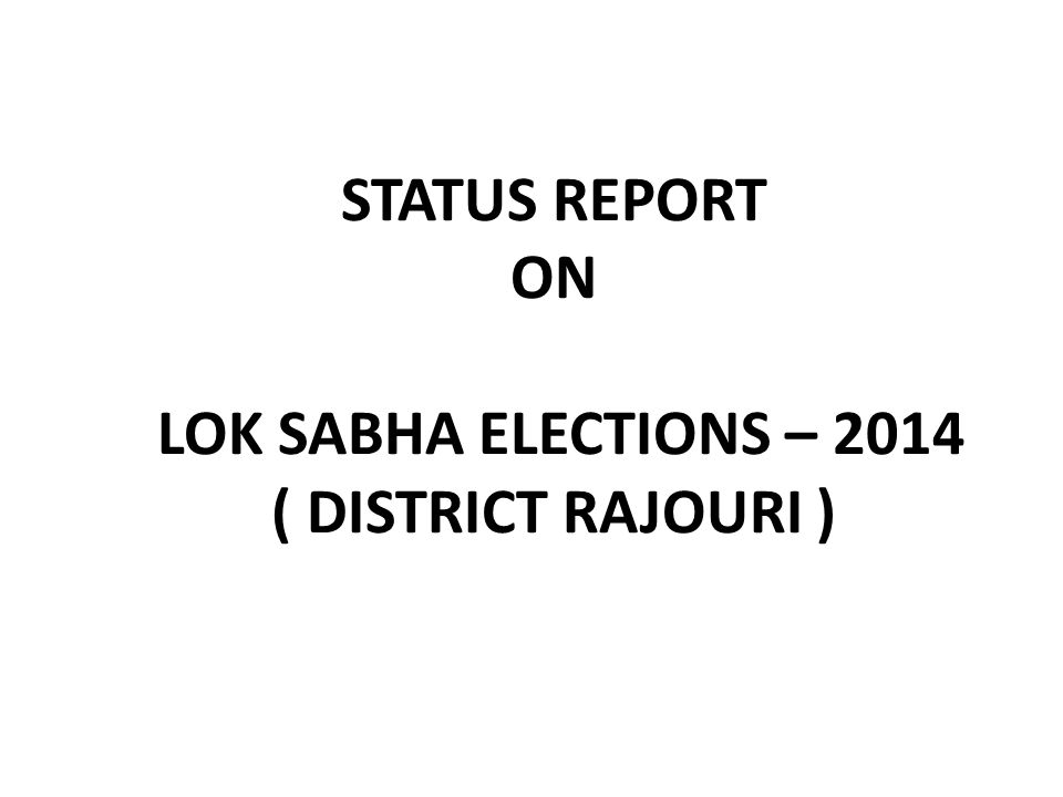Constituency-wise Information on Inclusion and Deletions in Current Electoral Over Previous Roll Name of State: Jammu & Kashmir Name of District Assembly Constituency Electors as per Draft Electoral Roll, 2014 Total claims lodged in Form 6 subsequently Total Claims admitted Total Objections Lodged in Form 7 subsequentl y Total Objections admitted Deletion under Sec 22 after previous final roll Total Deletions since Draft Roll Number of Deletions (since previuos final roll) Due to Number of Electors in proposed final Roll w.r.t.