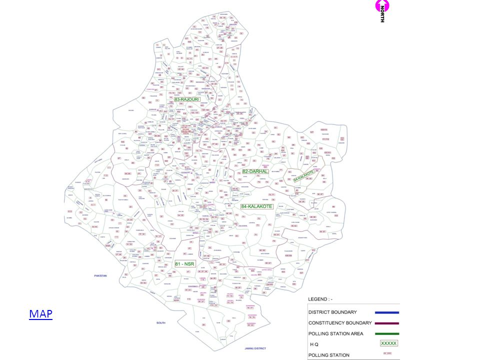 Security Plan District Security cover divided into 16 zones and 61 sectors.
