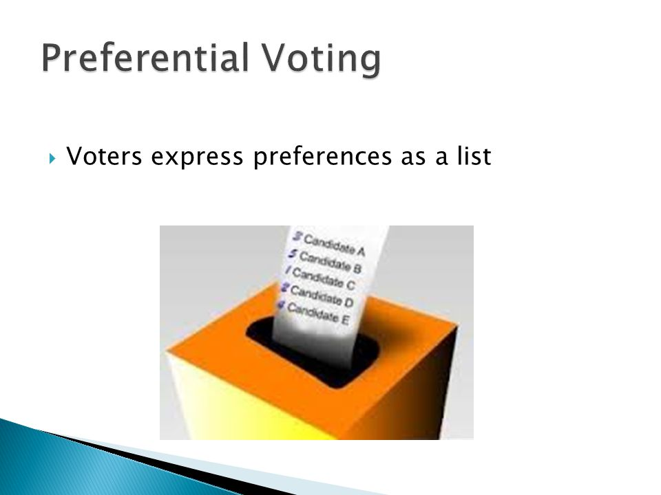  Voters express preferences as a list