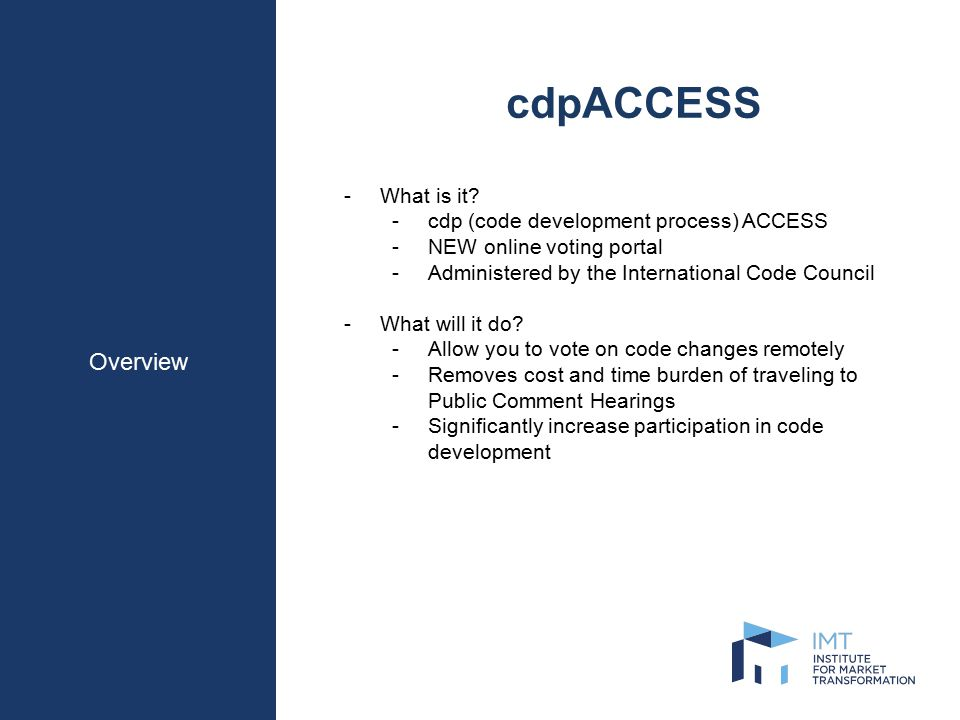 Overview cdpACCESS -What is it.