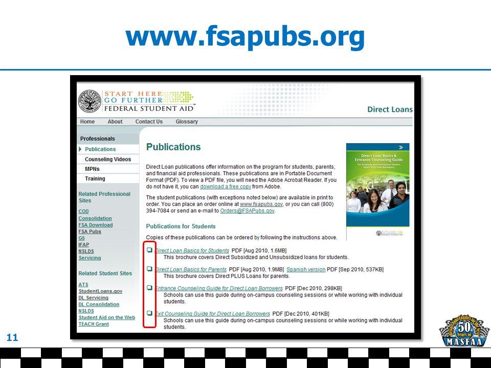 www.fsapubs.org 11