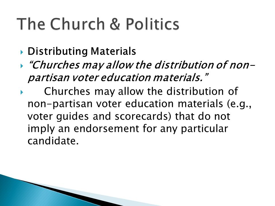  Providing Political Forums for Candidates Churches may host candidate or issue forums where all candidates are invited and allowed to speak.  Churches are absolutely allowed to provide political forums for candidates, so long as all candidates running are invited to attend.