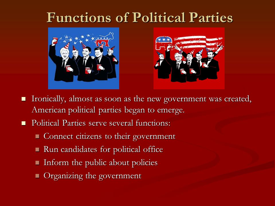 One-Party System There are three types of party systems: one party, two-party and multi-party.