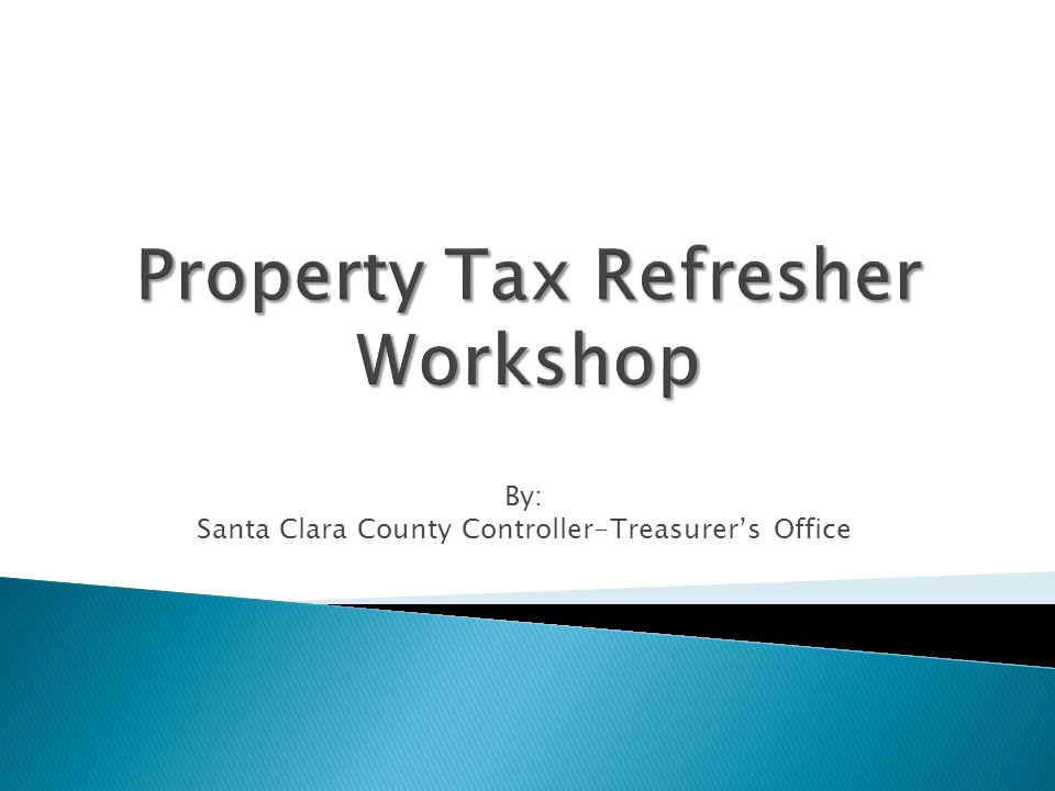 By: Santa Clara County Controller-Treasurer's Office
