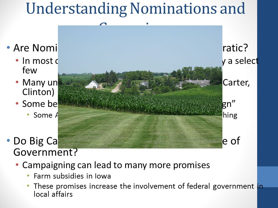 Understanding Nominations and Campaigns Are Nominations and Campaigns Too Democratic.