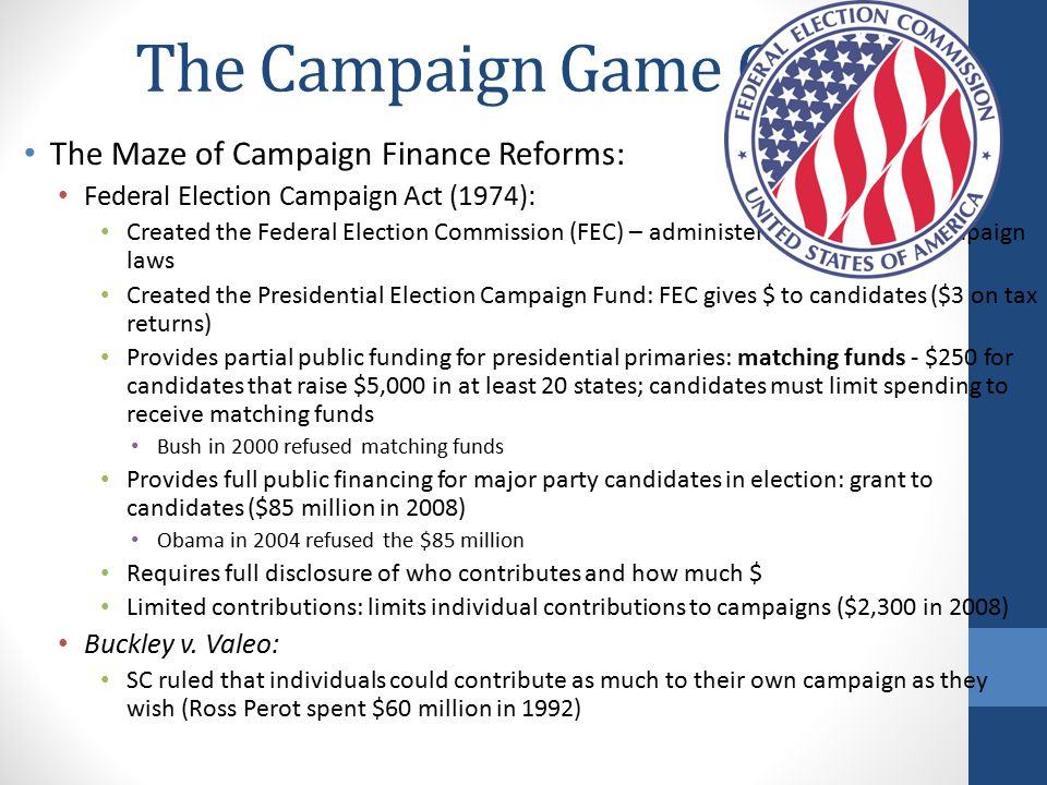 The Campaign Game Cont.