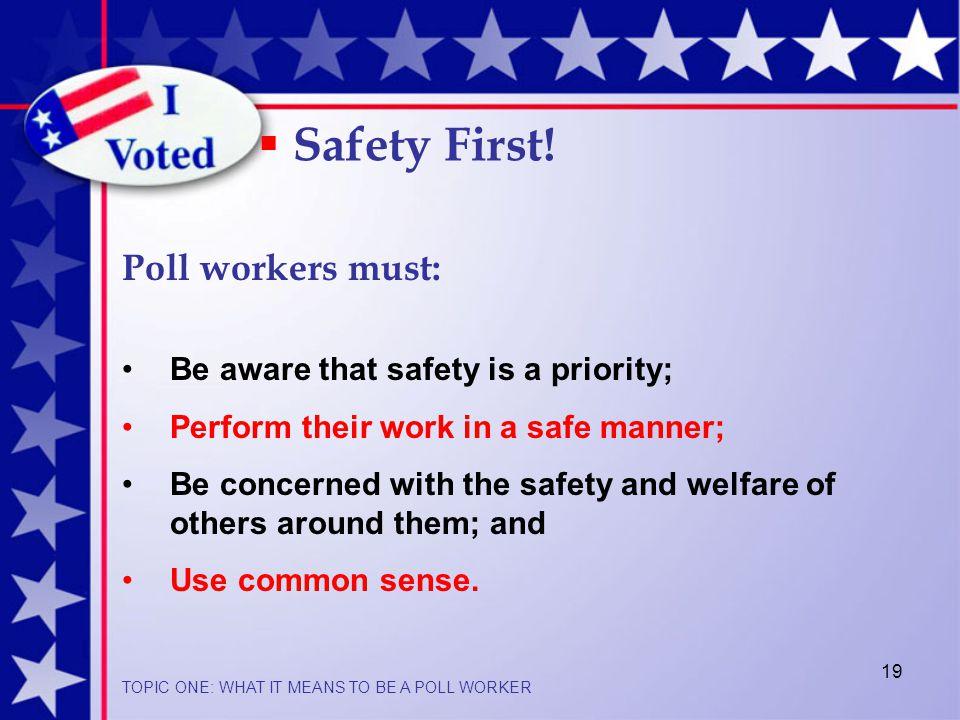 19  Safety First.