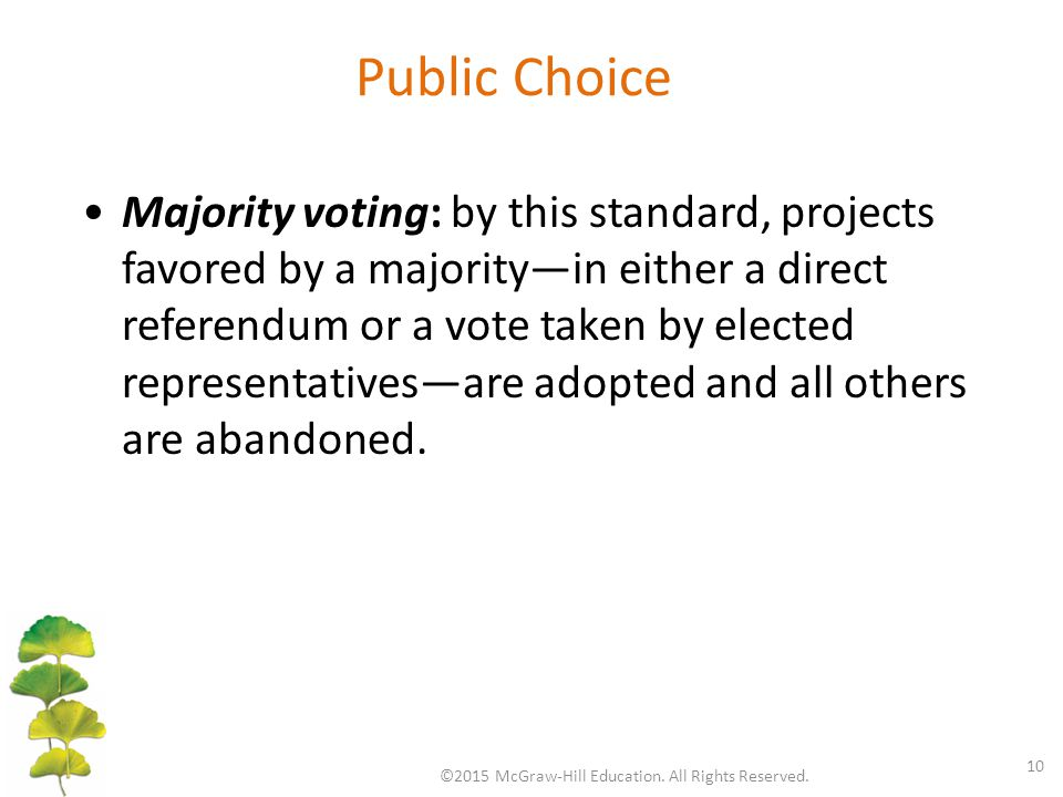 Public Choice ©2015 McGraw-Hill Education.All Rights Reserved.