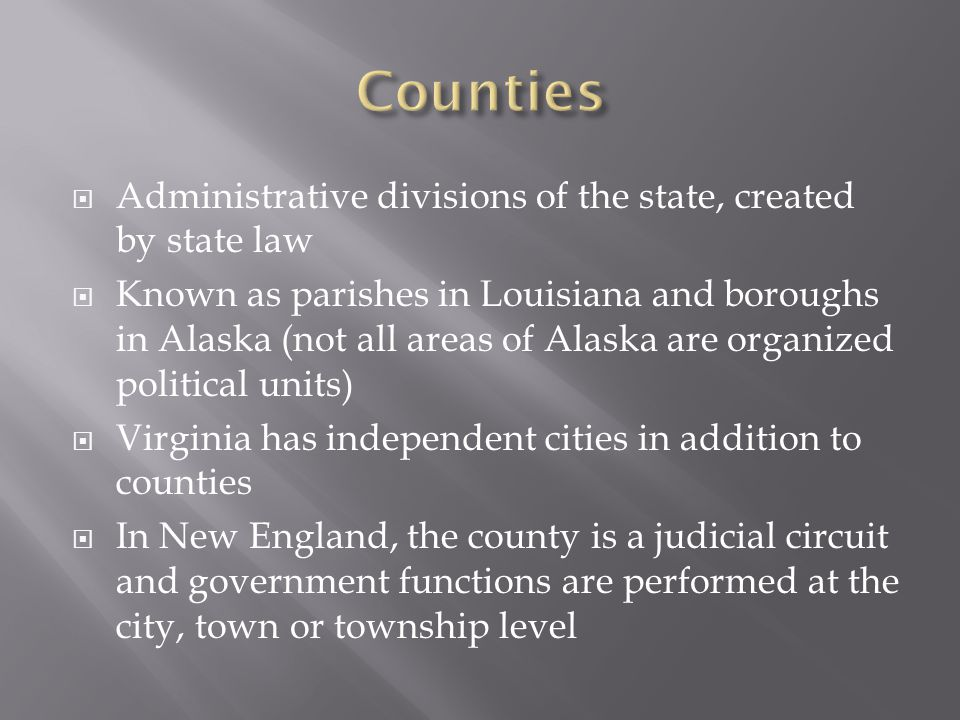  The goal is to rid metropolitan areas of ineffective local jurisdictions and fragmented authority.