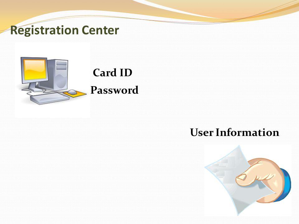 Password Card ID User Information Registration Center
