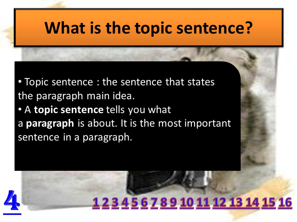 Topic of a paragraph 3