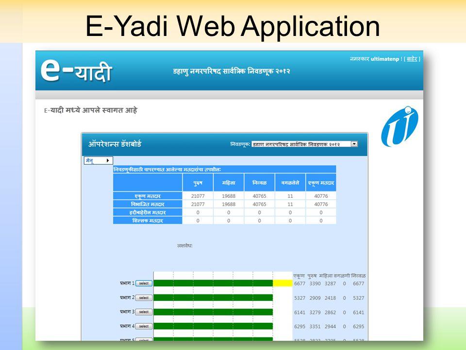 E-Yadi Web Application