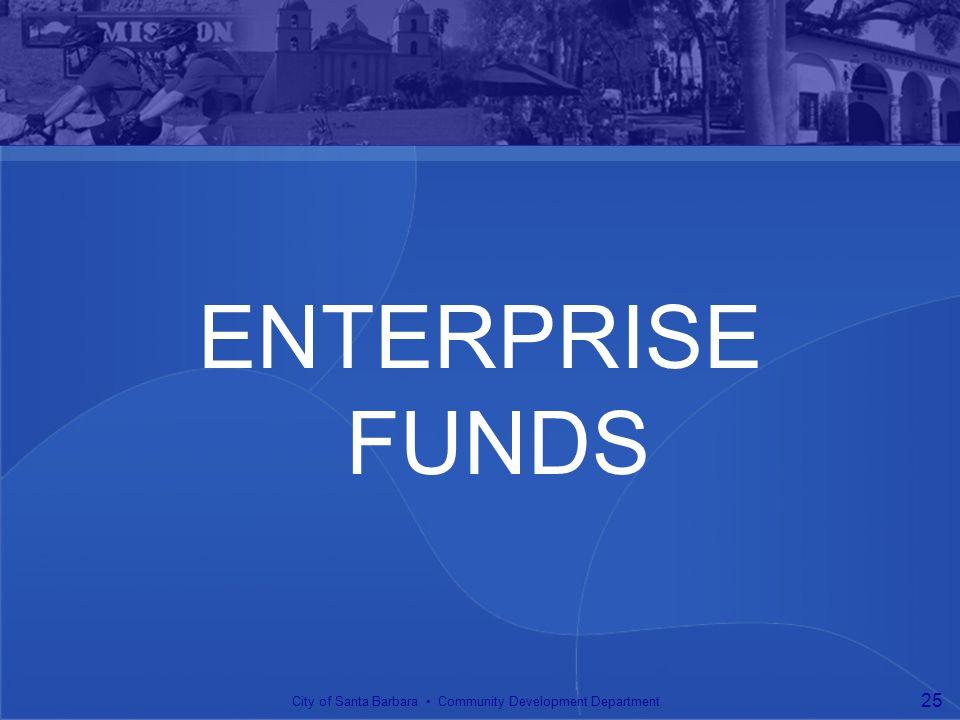 ENTERPRISE FUNDS City of Santa Barbara Community Development Department 25
