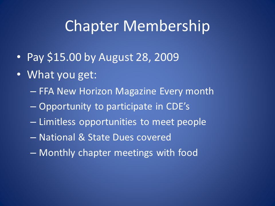 Chapter Meetings These are meetings held by the local chapter – Business is conducted here – Food is usually provided here – Fun and engaging activiti