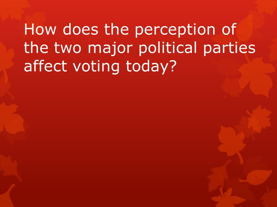 How does the perception of the two major political parties affect voting today?