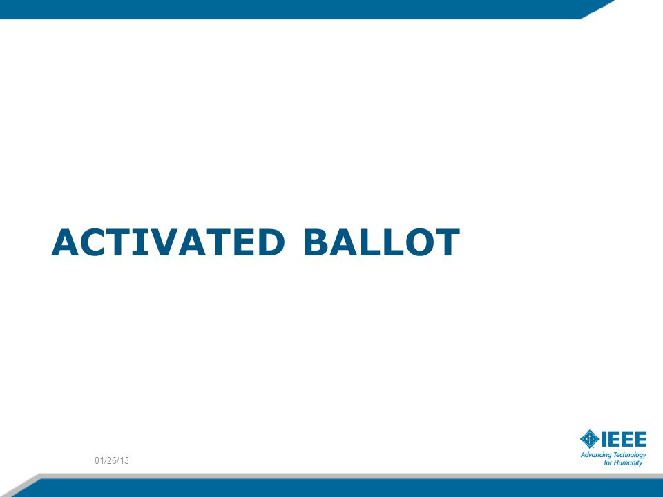 ACTIVATED BALLOT 01/26/13