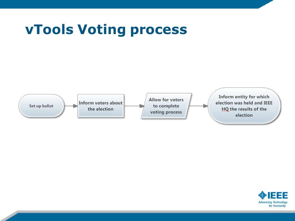 vTools Voting process