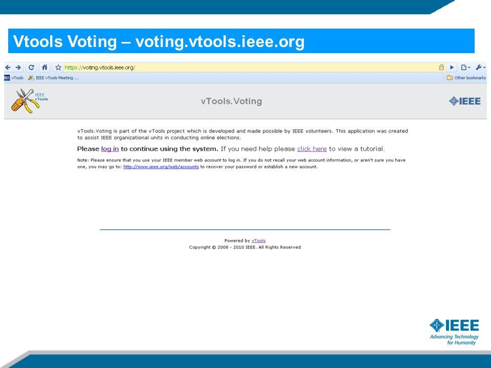 Vtools Voting – voting.vtools.ieee.org