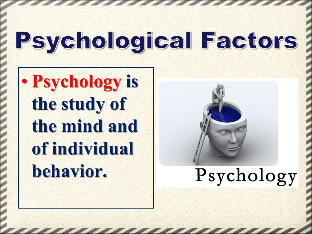 Psychology is the study of the mind and of individual behavior.Psychology is the study of the mind and of individual behavior.