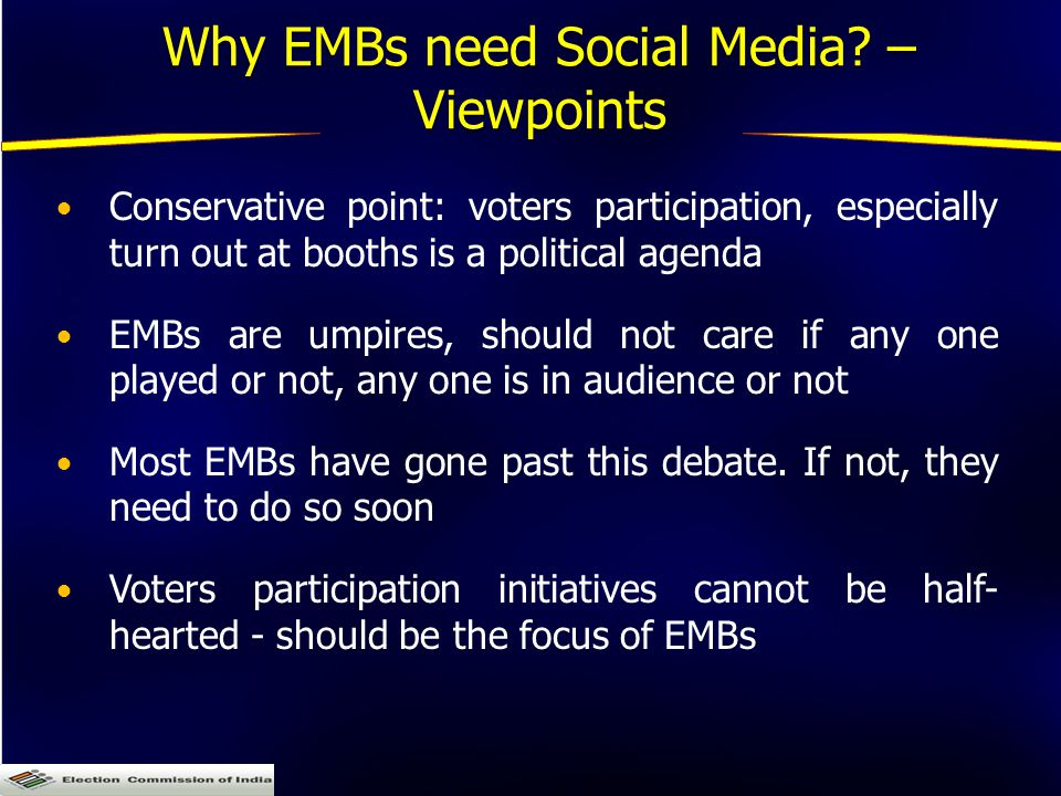Why EMBs need Social Media.