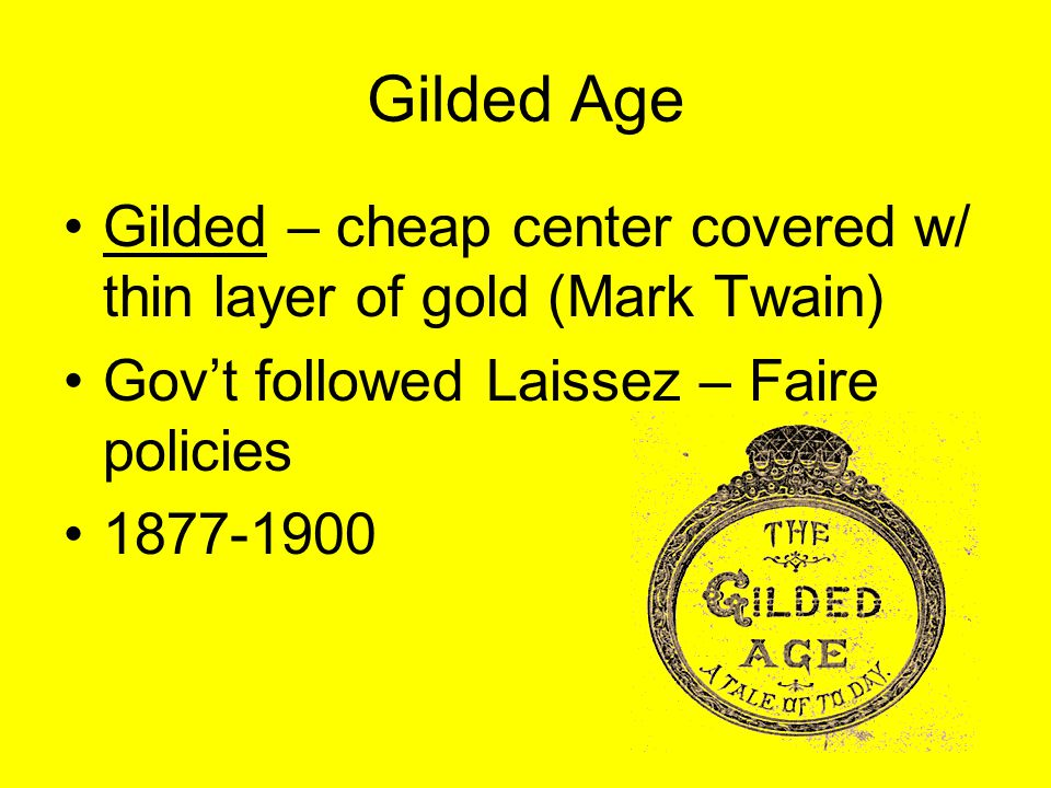 Presidents of the Gilded Age Grover Cleveland Democrat Stops Pullman Strike Only Prez elected twice not in a row!