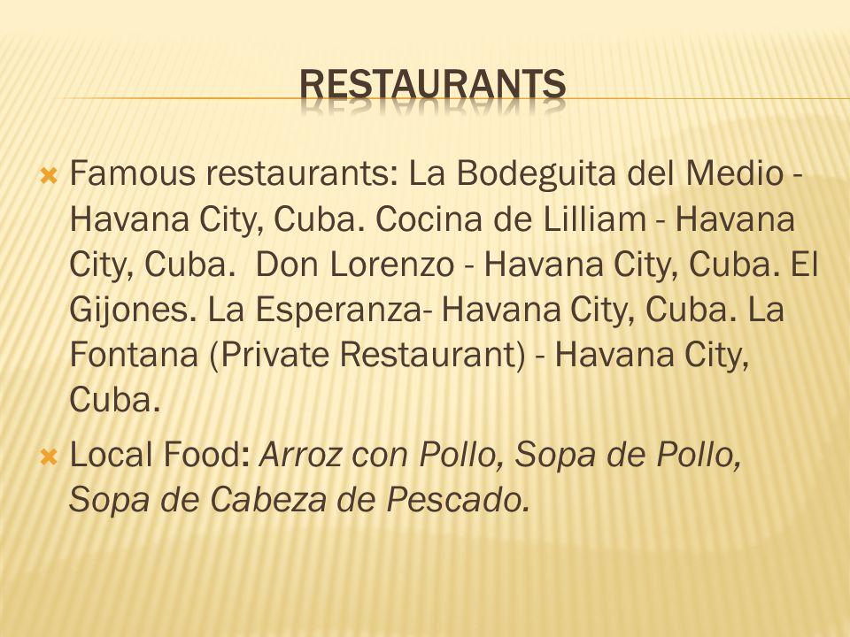  Famous restaurants: La Bodeguita del Medio - Havana City, Cuba.