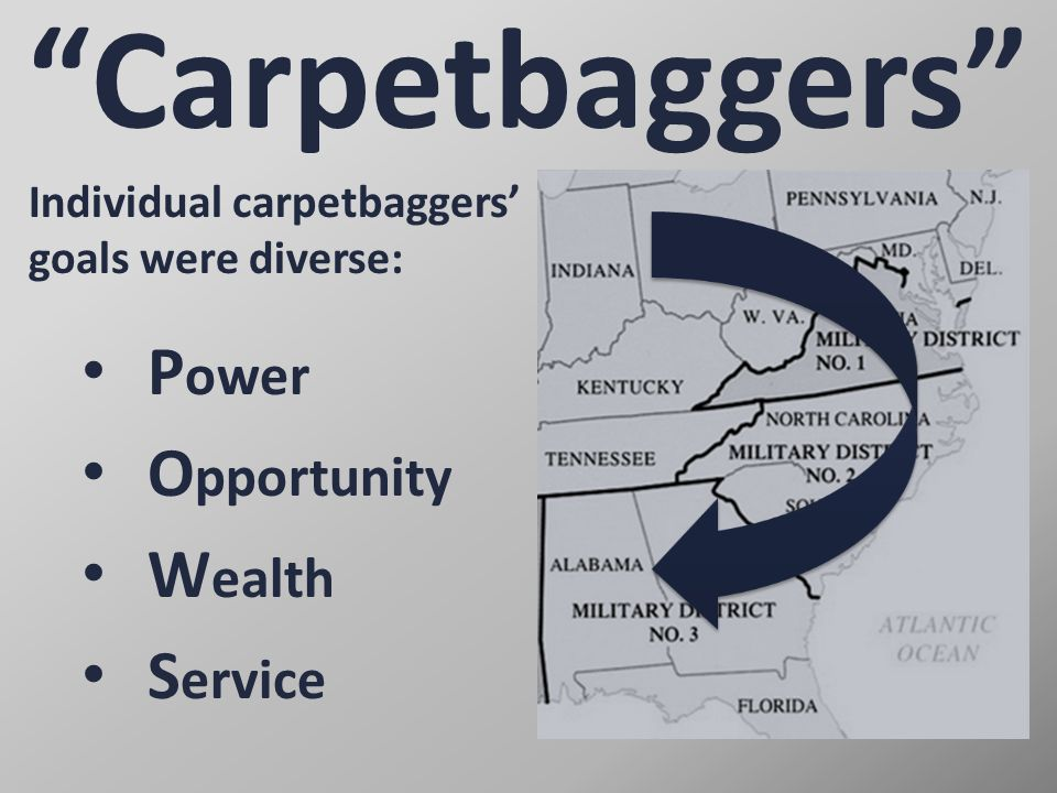 """The """"Carpetbagger"""" Stereotype Click to play!"""