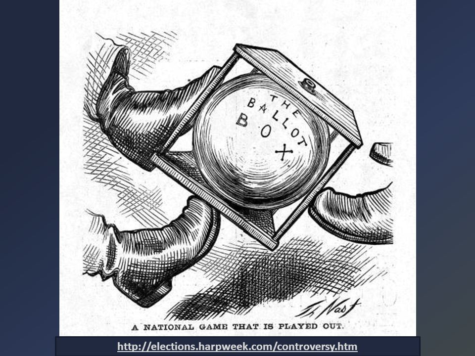 Election of 1876 Republican Platform Democratic Platform Tilden: 184 Hayes: 166 Disputed: 19 FTW: 185 1872 1868 1876