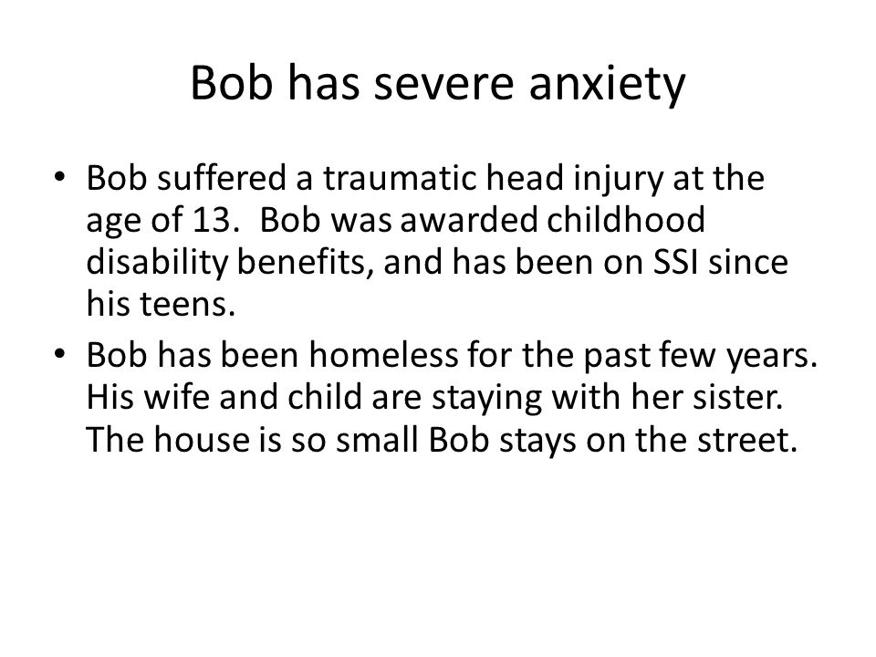 Bob applies for homeless services The Office of Behavioral Health provides many wonderful programs to individuals experiencing homelessness.