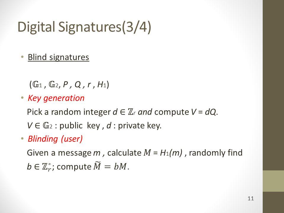 Digital Signatures(3/4) 11