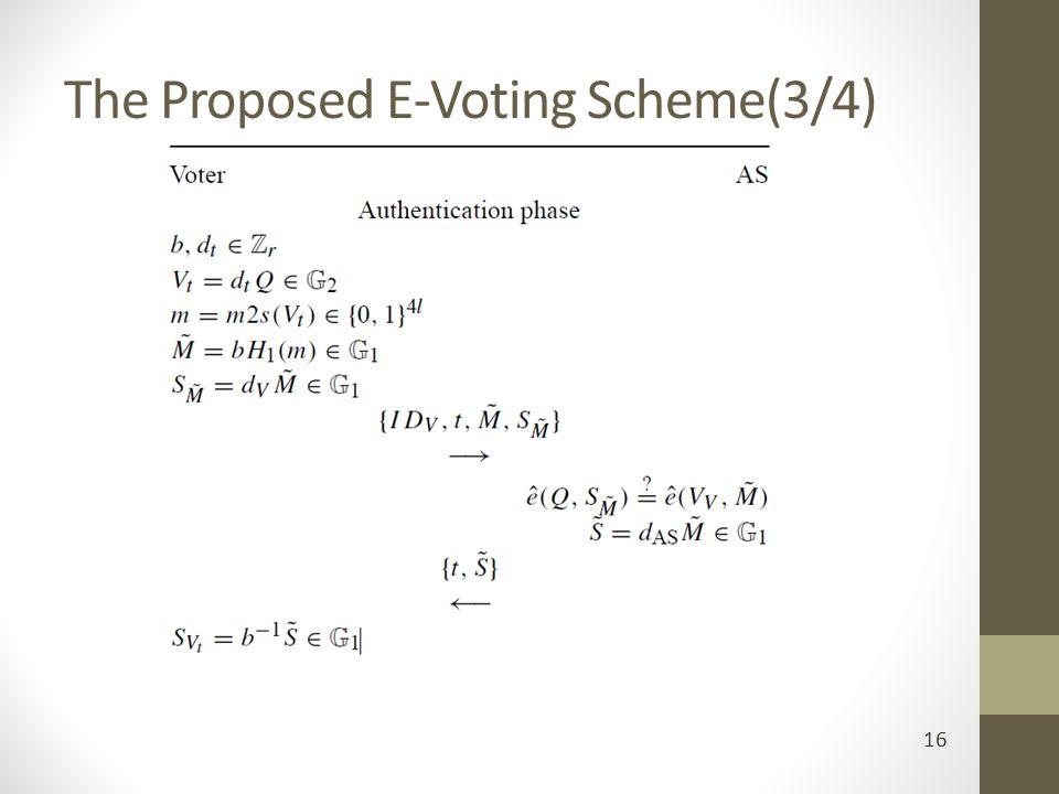 The Proposed E-Voting Scheme(3/4) 16