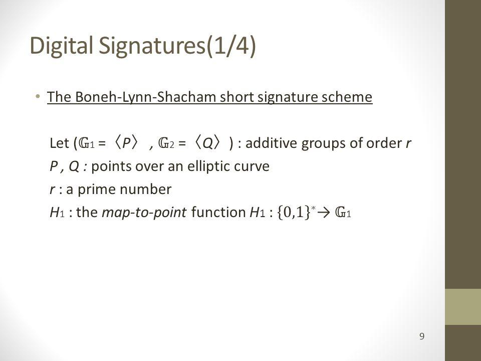 Digital Signatures(1/4) 9
