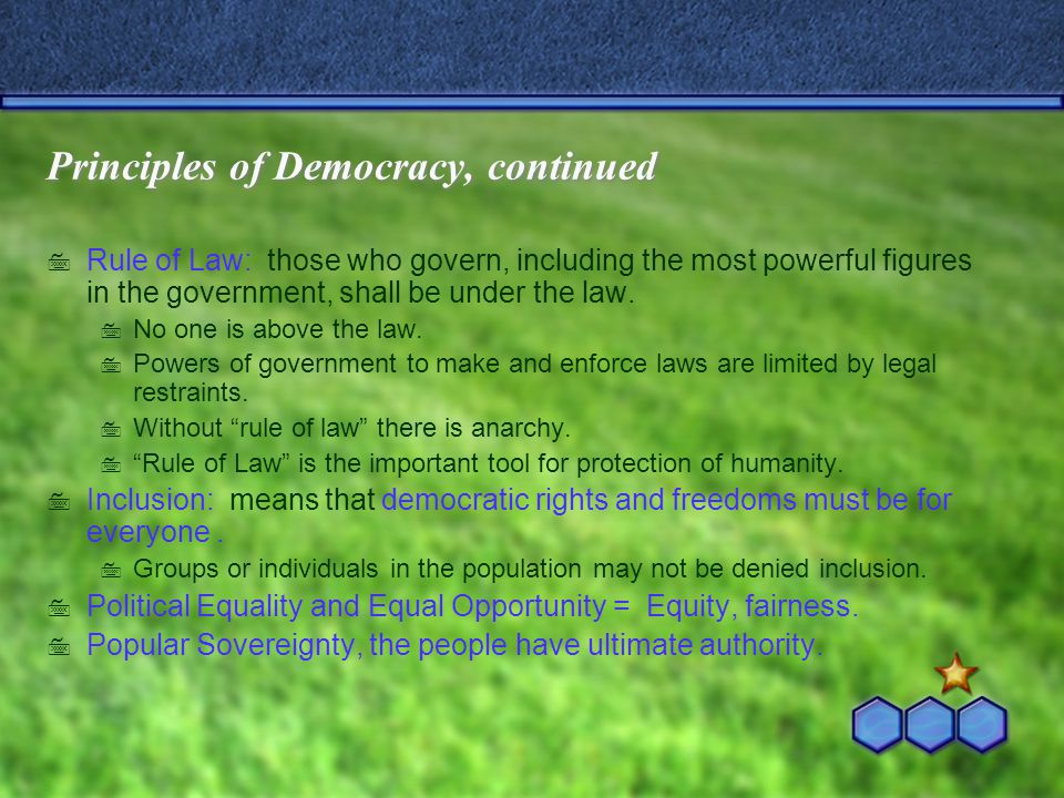 Forms of Democracy, continued: 1).Representative Democracy = electoral democracy: the people (voters) elect officials they want to represent them.