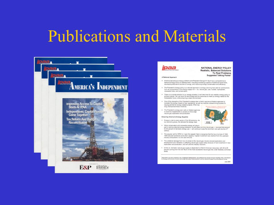 Publications and Materials