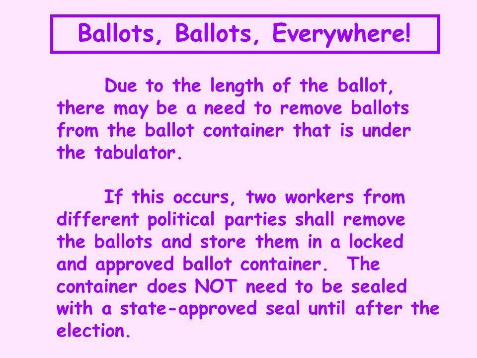 How to duplicate a ballot .1.Take the original ballot and mark it original 1 .