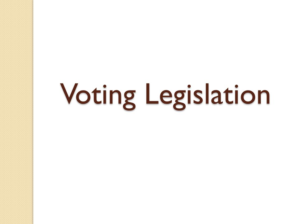 Voting Rights Act This act was signed into law on August 6, 1965, by President Lyndon Johnson.