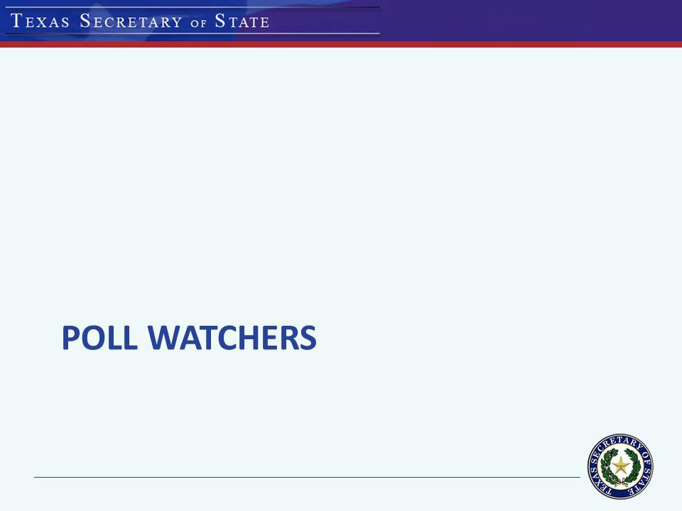 POLL WATCHERS