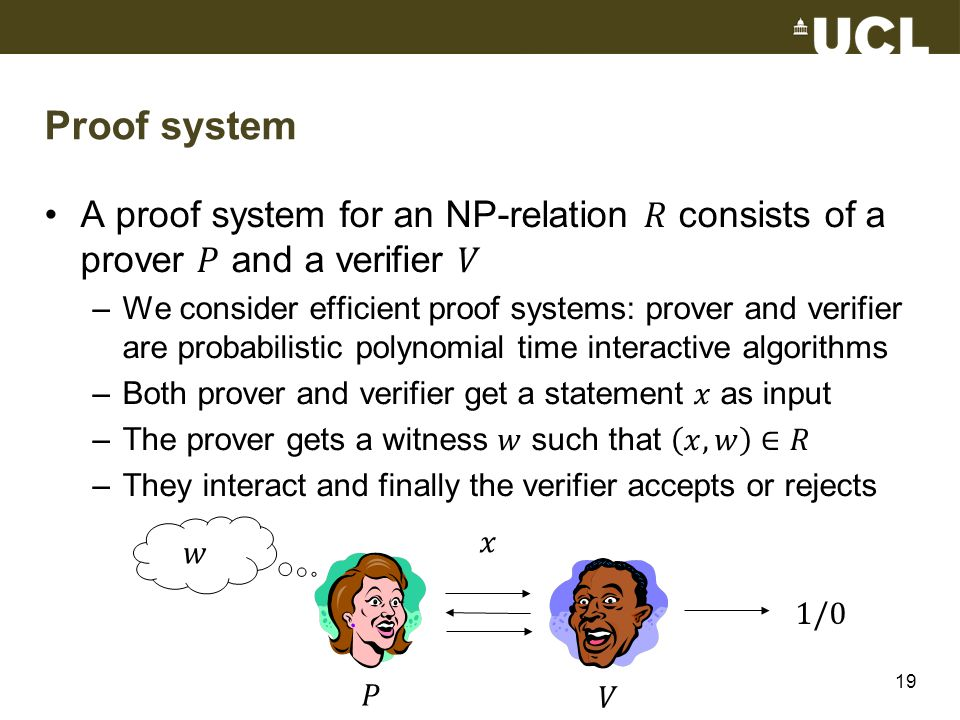 Proof system 19