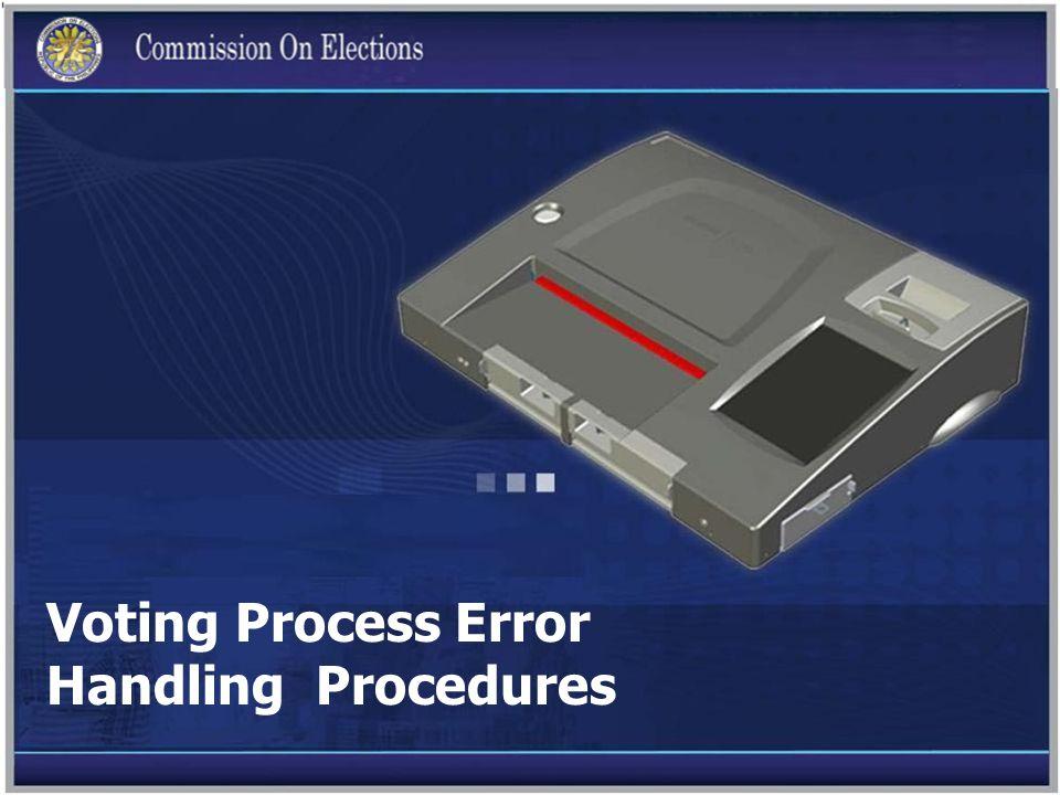 Voting Process Error Handling Procedures