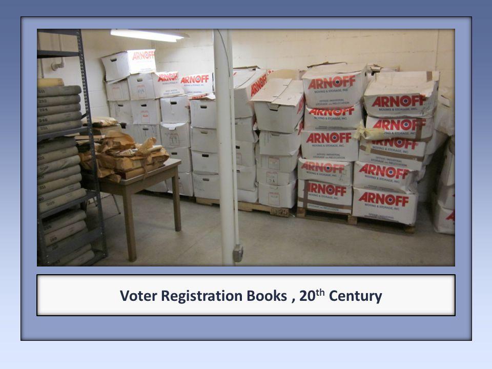 Voter Registration Books, 20 th Century