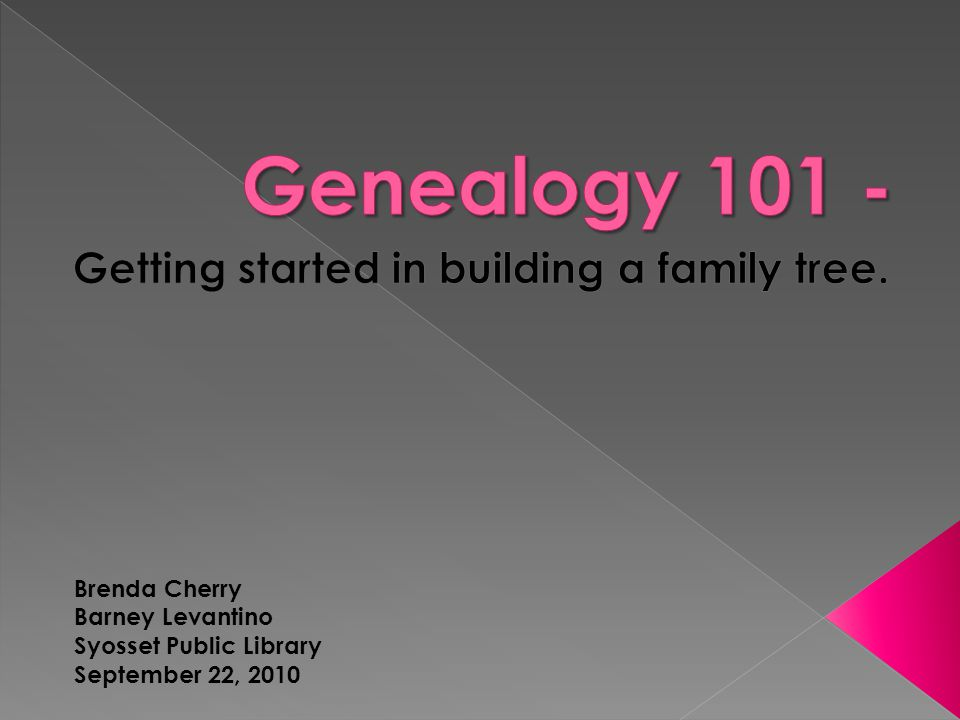 Brenda Cherry Barney Levantino Syosset Public Library September 22, 2010