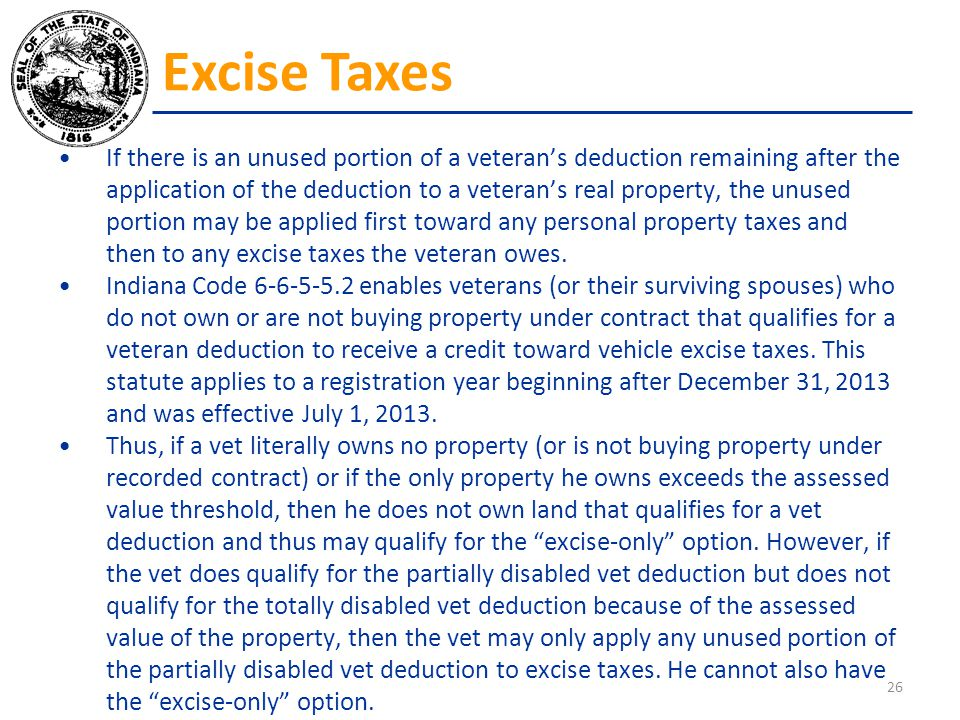 If there is an unused portion of a veteran's deduction remaining after the application of the deduction to a veteran's real property, the unused porti