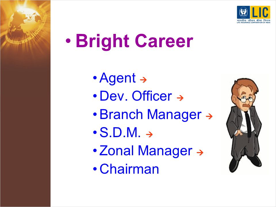 Bright Career Agent    Dev. Officer    Branch Manager    S.D.M.