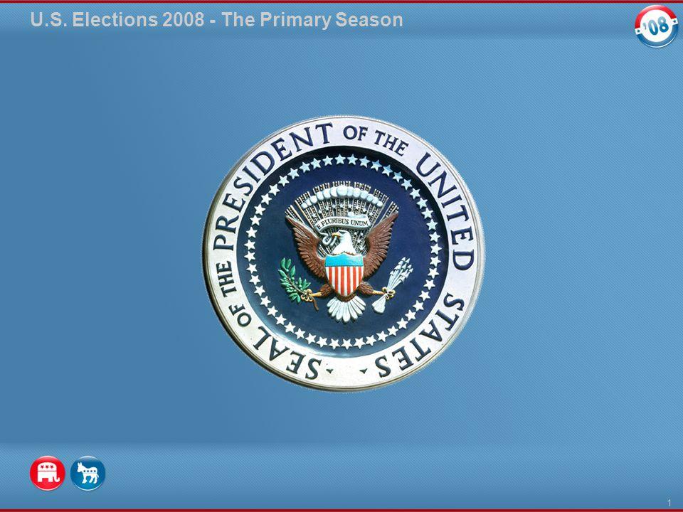 U.S. Elections 2008 - The Primary Season 1