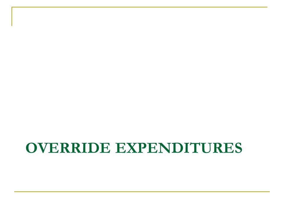 OVERRIDE EXPENDITURES