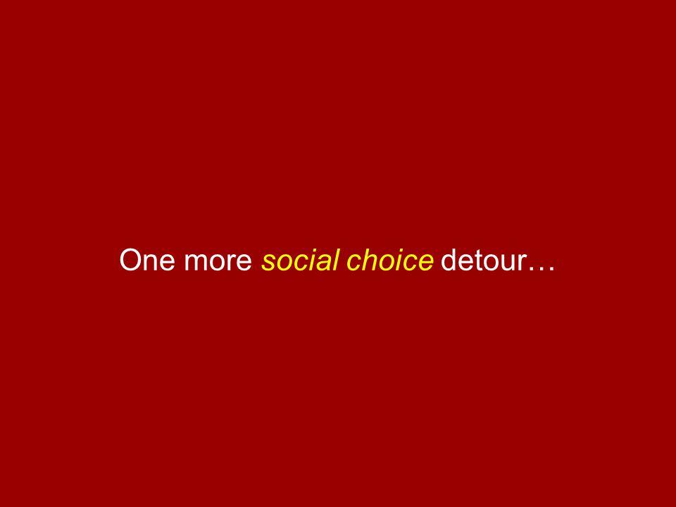 One more social choice detour…